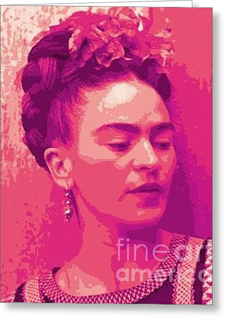 Woman Of Passion Greeting Card by Tearee Caswell