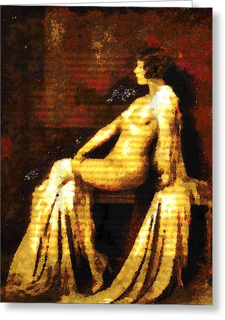 Woman Of The Night Greeting Card by Georgiana Romanovna