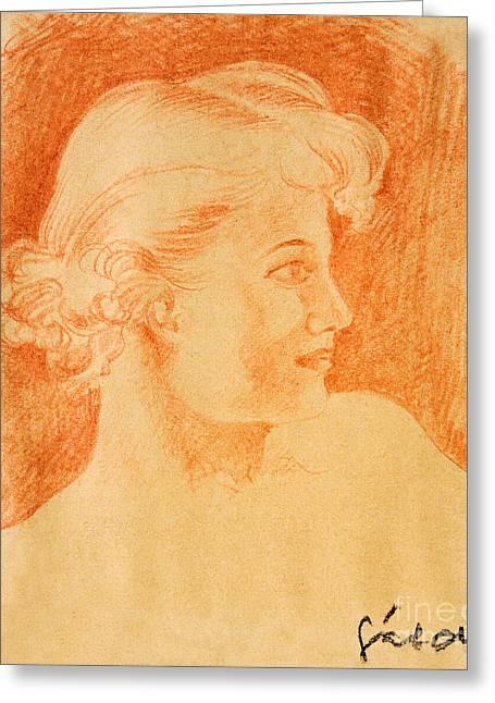 Woman Portrait Greeting Card