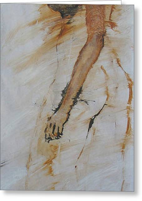 Woman With Hand On Shoulder Greeting Card by Elizabeth Parashis