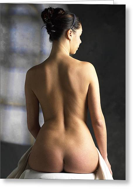 Woman's Back Greeting Card by Tony Mcconnell