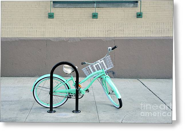 Woman's Bicycle  Greeting Card by Ed Rooney