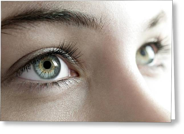 Woman's Eyes Greeting Card by