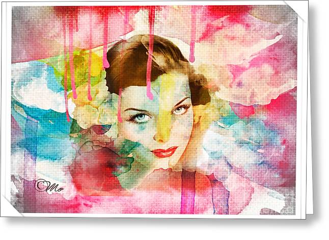 Woman's Soul Prelude Greeting Card by Mo T