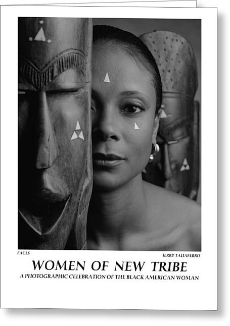 Women Of A New Tribe - Faces Greeting Card by Jerry Taliaferro