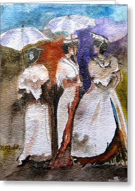 Women Of Arles Greeting Card by MaryAnne Ardito