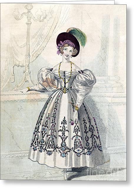 Womens Fashion, 1833 Greeting Card by Granger