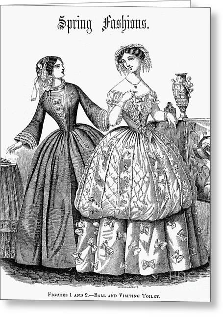 Womens Fashion, 1853 Greeting Card by Granger