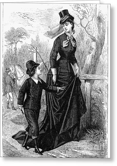 Womens Fashion, 1876 Greeting Card by Granger