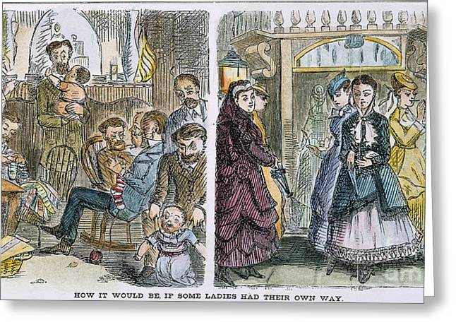 Womens Rights, 1868 Greeting Card