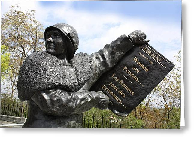 Women's Rights Statue, Canada Greeting Card