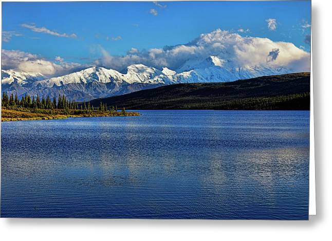 Wonder Lake Greeting Card by Rick Berk