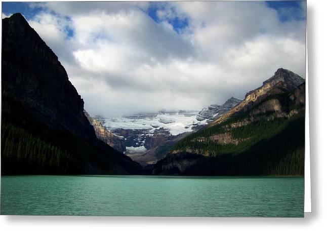 Wonderland Of Lake Louise Greeting Card by Karen Wiles