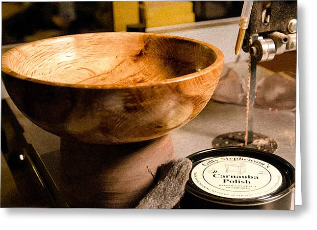 Greeting Card featuring the photograph Wood Bowl by Gary Rose