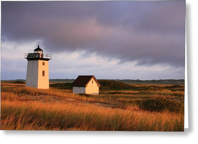Wood End Lighthouse Landscape Greeting Card by Roupen  Baker