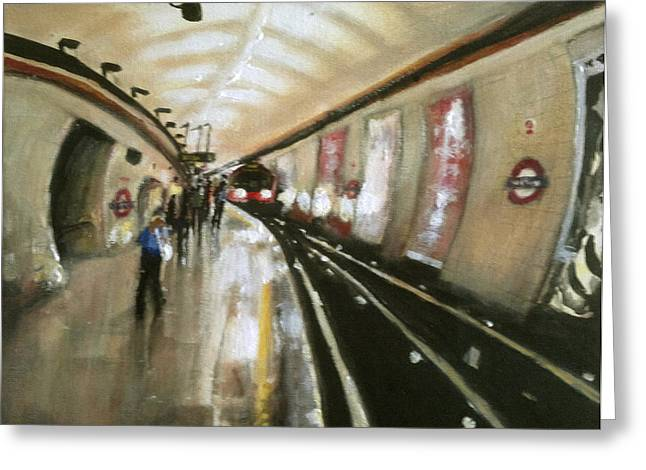 Wood Green Tube Station Greeting Card by Paul Mitchell