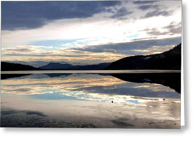 Wood Lake Mirror Image Greeting Card by Will Borden
