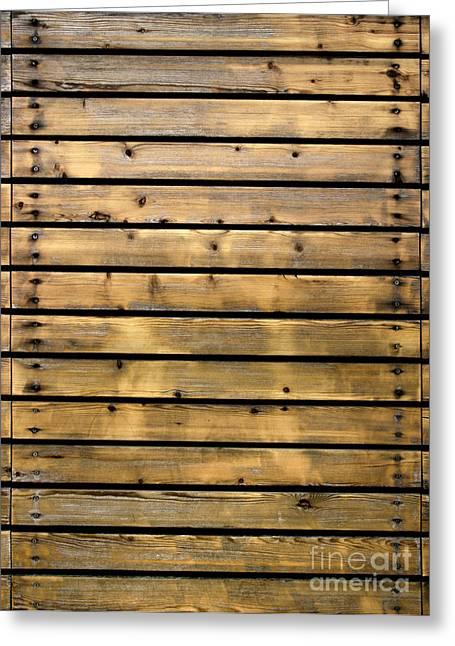 Wood Planks Greeting Card by Carlos Caetano