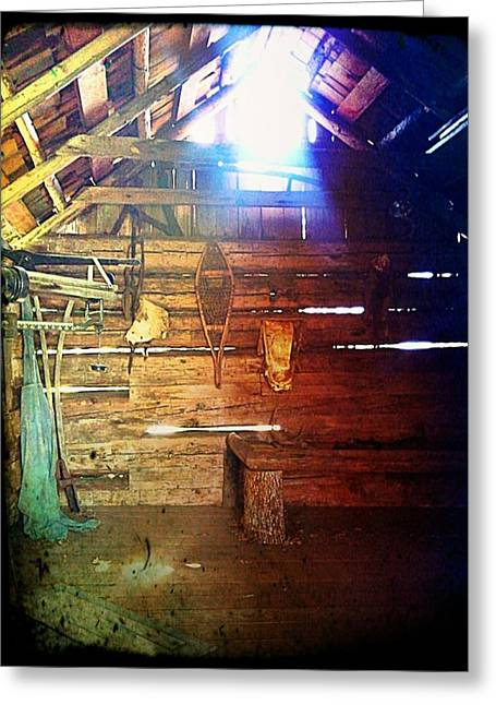 Wood Shed Greeting Card by Jeff Ford