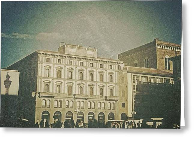 #woodcamera #florence #iphoneography Greeting Card by Andrea Bigiarini