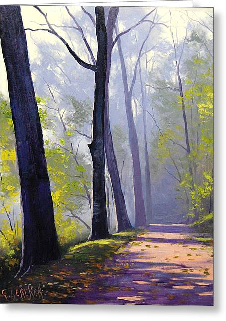 Wooded Trail Greeting Card