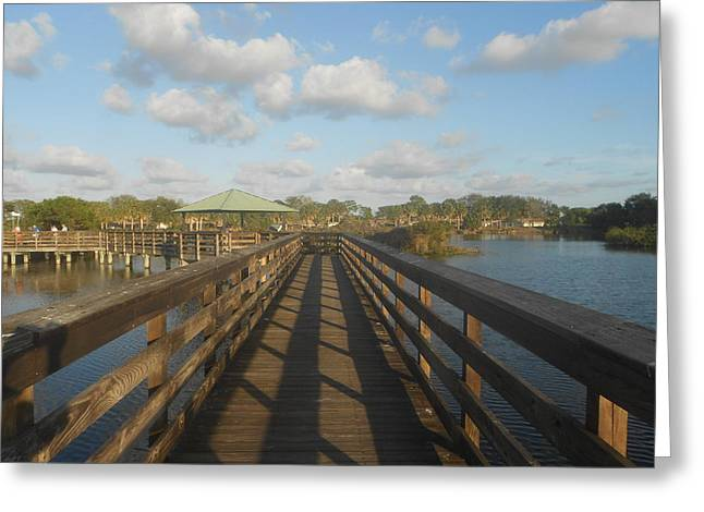 Wooden Bridge  Greeting Card by Sheila Silverstein
