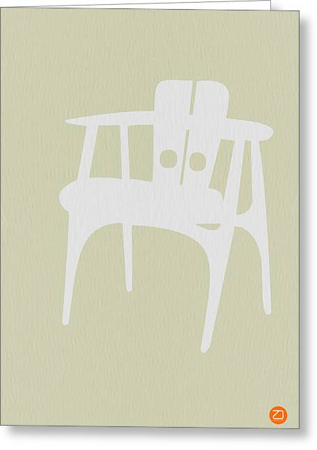Wooden Chair Greeting Card by Naxart Studio