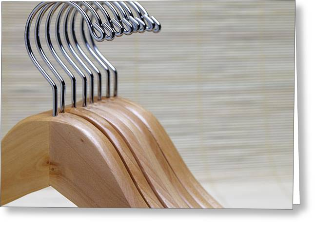 Wooden Clothes Hangers Greeting Card