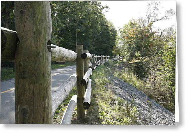 Wooden Fence Greeting Card by Philip Porteus