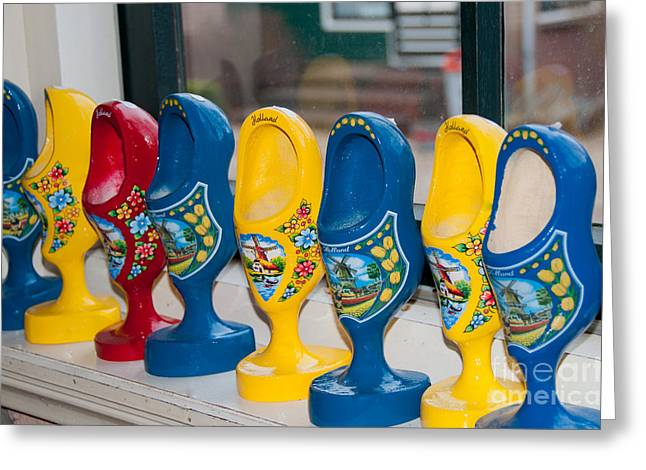 Wooden Shoes Greeting Card by Carol Ailles