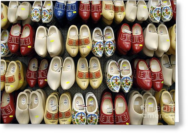 Wooden Shoes Greeting Card by Ed Rooney