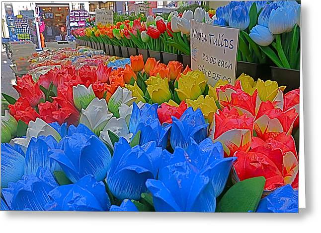 Wooden Tulips Greeting Card