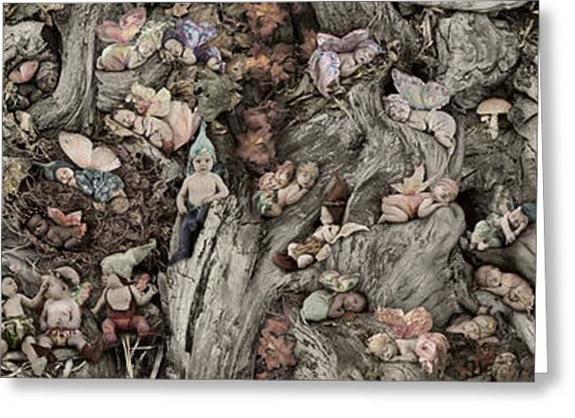 Recently Sold -  - Anne Geddes Greeting Cards - Woodland Fairies Greeting Card by Anne Geddes