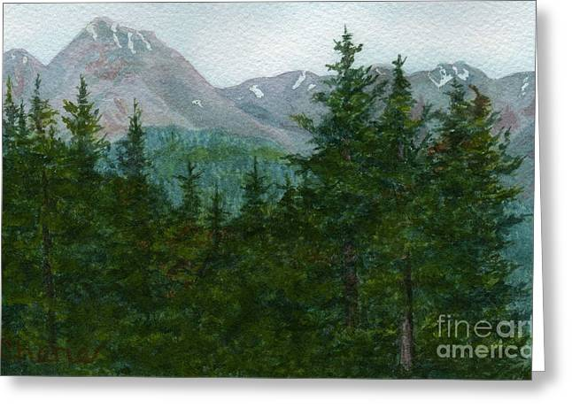 Woodland Overlook Greeting Card by Vikki Wicks