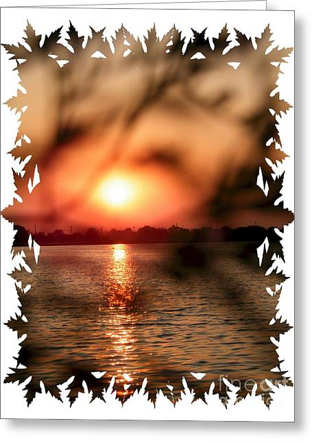 Woodmere Park Greeting Card by Laurence Oliver