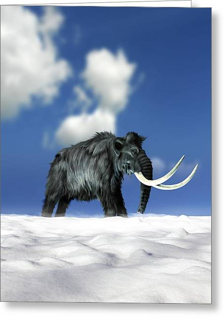 Woolly Mammoth, Artwork Greeting Card by Victor Habbick Visions