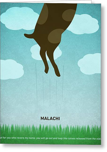 Word Malachi Greeting Card by Jim LePage