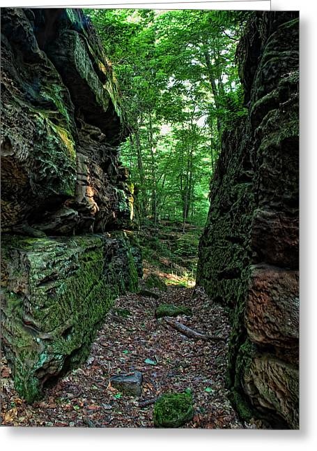 Worden's Ledges Greeting Card by Dale Kincaid