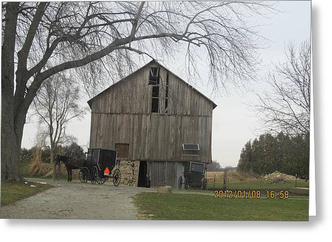 Greeting Card featuring the photograph Working Barn by Tina M Wenger