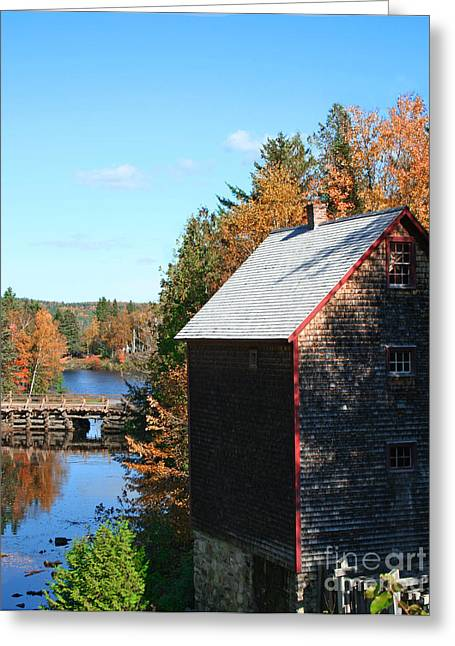 Greeting Card featuring the photograph Working Gristmill by Barbara McMahon