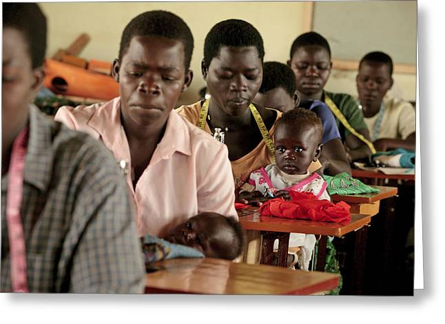 Working Parents And Children, Uganda Greeting Card