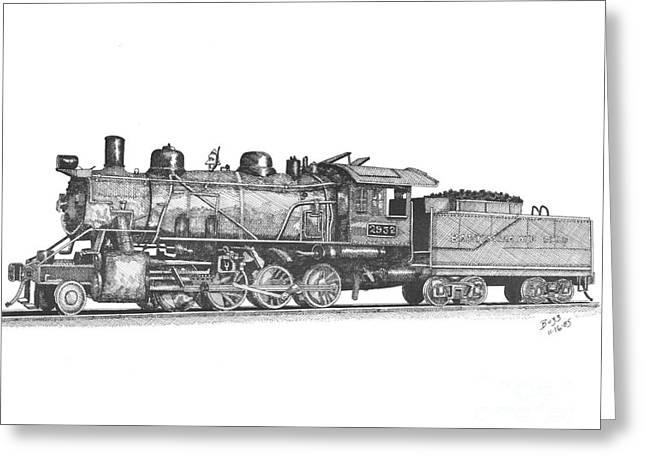 Working Steam Engine Greeting Card