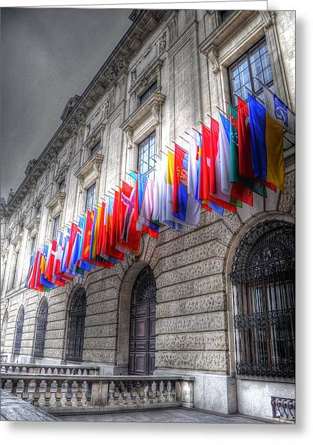 Barry R Jones Jr Digital Art Greeting Cards - World Flags Greeting Card by Barry R Jones Jr