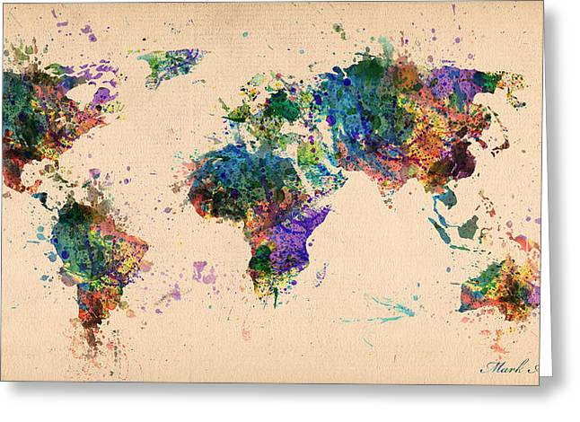 World Map 2 Greeting Card