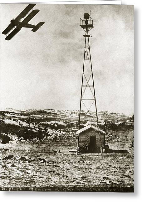 World's Highest Beacon Light, 1920s Greeting Card