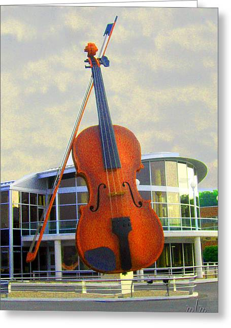 World's Largest Fiddle Greeting Card