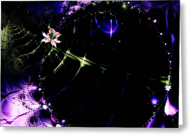Wormhole Beyond . Square . S4a.s10 Greeting Card by Wingsdomain Art and Photography