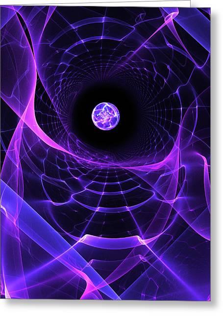 Wormhole Greeting Card by Pam Blackstone