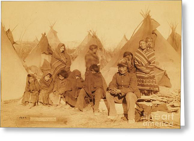 Wounded Knee Survivors Greeting Card by Pg Reproductions