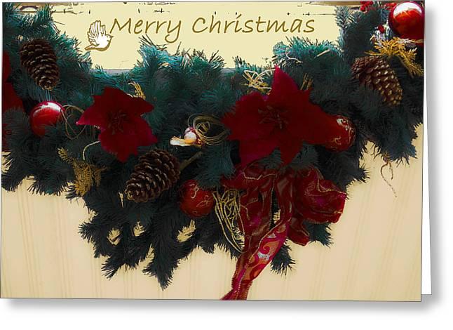 Wreath Garland Greeting Greeting Card